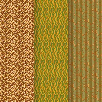 Coleção de modelo de padrão de linhas arredondadas