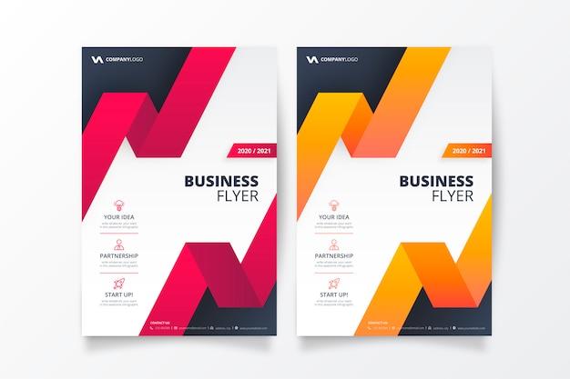 Coleção de modelo de panfleto de negócios profissional