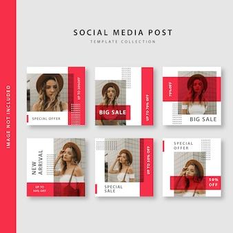 Coleção de modelo de postagem de mídia social