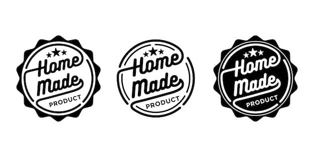 Coleção de modelo de selo de selo de etiqueta de produto caseiro