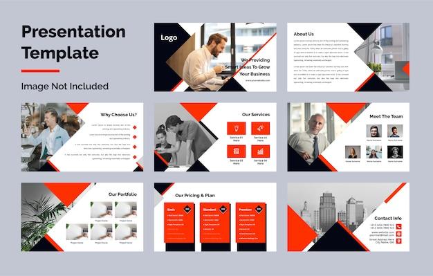 Coleção de modelo de slides de apresentação de powerpoint de negócios