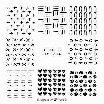Coleção de modelo de textura de mão desenhada