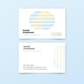 Coleção de modelo gradiente pastel de cartões de visita