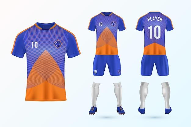 Coleção de modelo uniforme de futebol