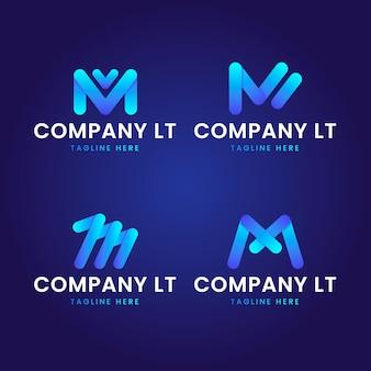 Coleção de modelos com logotipos m