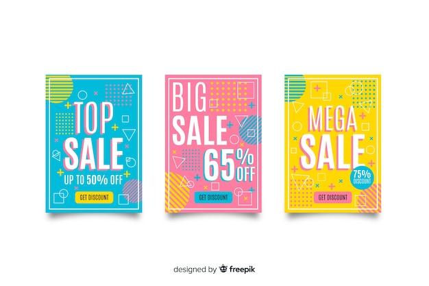 Coleção de modelos de banner de vendas de memphis