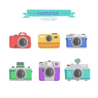 Coleção de modelos de câmera