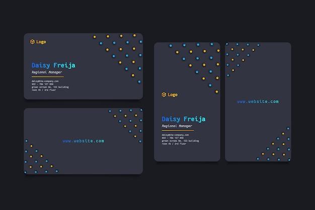 Coleção de modelos de cartão de visita neumorph