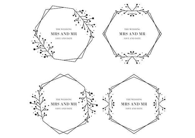 Coleção de modelos de casamento floral