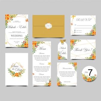 Coleção de modelos de convite de casamento