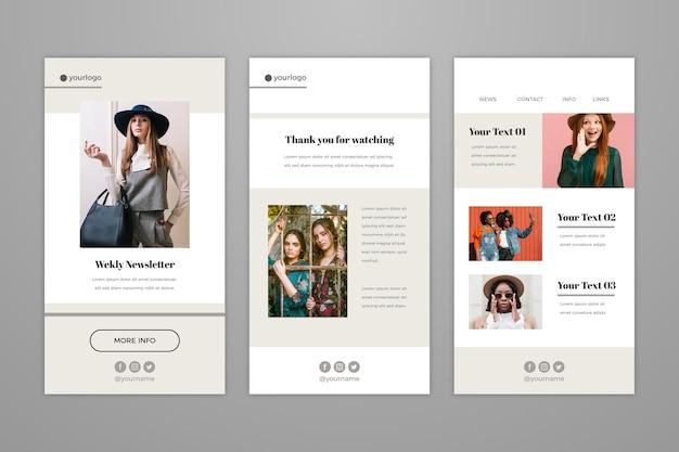 Coleção de modelos de e-mail do blogger