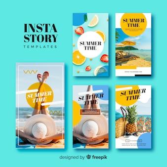 Coleção de modelos de histórias de verão do instagram