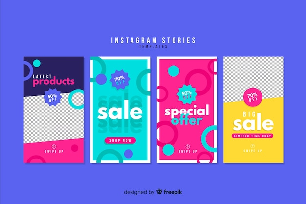 Coleção de modelos de histórias do instagram de venda