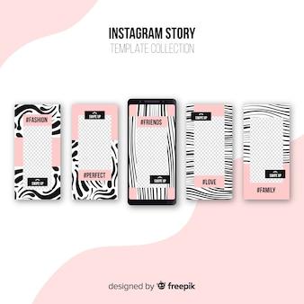 Coleção de modelos de histórias modernas do instagram