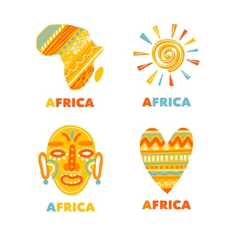 Coleção de modelos de logotipo africano