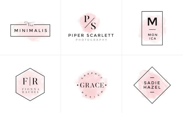 Coleção de modelos de logotipo. conjunto de logotipo. logotipos minimalistas. design do logotipo premade