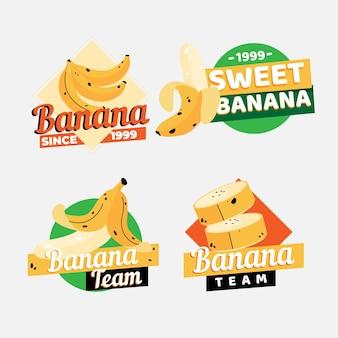 Coleção de modelos de logotipo da banana
