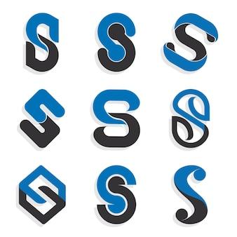 Coleção de modelos de logotipo da flat s