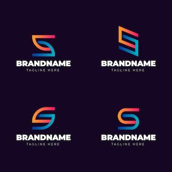 Coleção de modelos de logotipo da gradient
