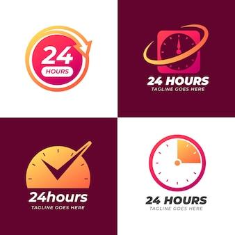 Coleção de modelos de logotipo da hora