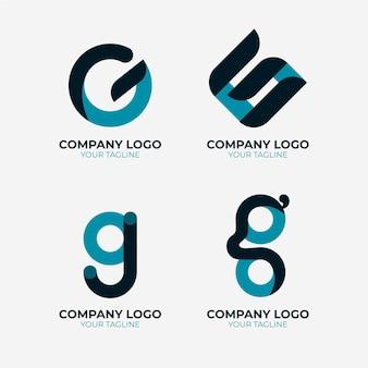Coleção de modelos de logotipo da letra g