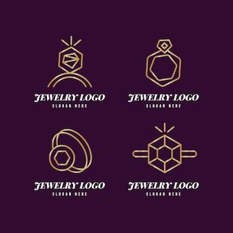Coleção de modelos de logotipo de anel gradiente