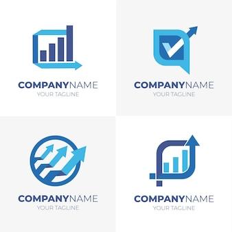 Coleção de modelos de logotipo de contabilidade plana