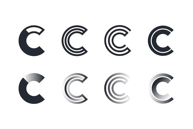 Coleção de modelos de logotipo de design plano c
