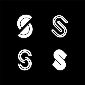 Coleção de modelos de logotipo de design plano