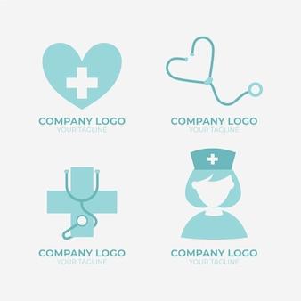 Coleção de modelos de logotipo de enfermeira