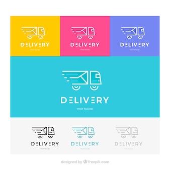 Coleção de modelos de logotipo de entrega