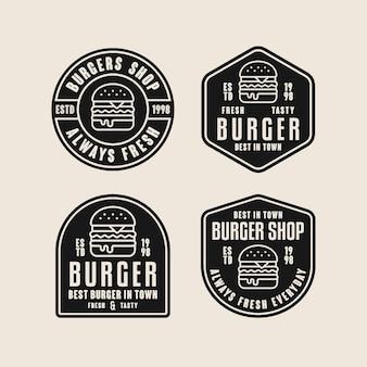 Coleção de modelos de logotipo de hambúrguer