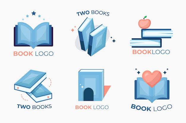 Coleção de modelos de logotipo de livro