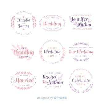 Coleção de modelos de logotipo de monograma de casamento