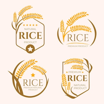 Coleção de modelos de logotipo de negócios de grãos