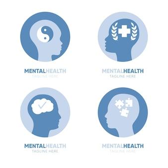 Coleção de modelos de logotipo de saúde mental