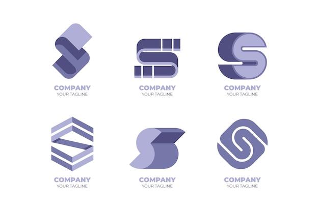 Coleção de modelos de logotipo do flat design