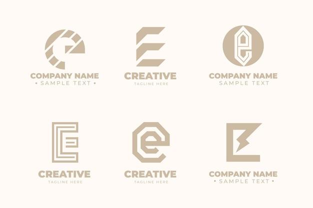 Coleção de modelos de logotipo flat e