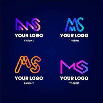 Coleção de modelos de logotipo gradient ms