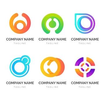 Coleção de modelos de logotipo gradiente o
