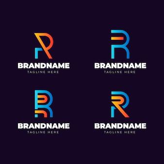 Coleção de modelos de logotipo gradiente r
