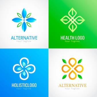 Coleção de modelos de logotipo holístico gradiente