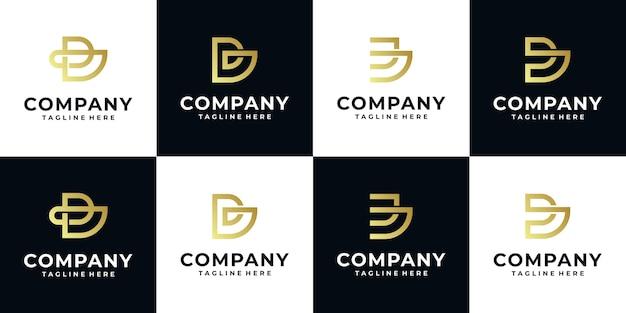 Coleção de modelos de logotipo inicial da letra b do monograma