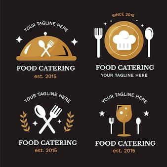 Coleção de modelos de logotipo para catering