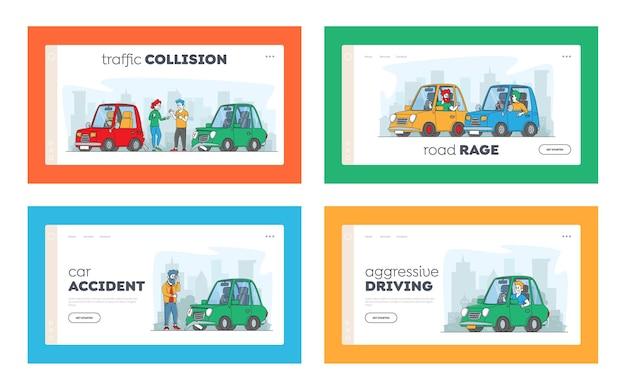 Coleção de modelos de página de destino de condução