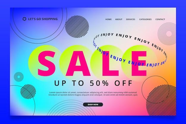 Coleção de modelos de página de destino de vendas