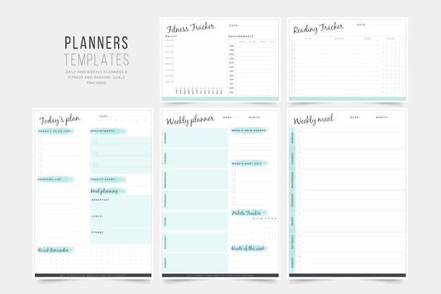 Coleção de modelos de planejador