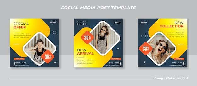 Coleção de modelos de postagem de mídia social moderna