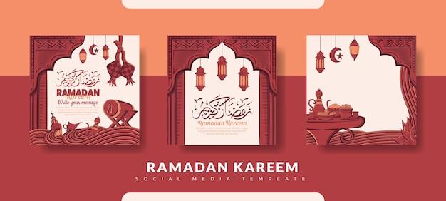 Coleção de modelos de postagem de ramadã