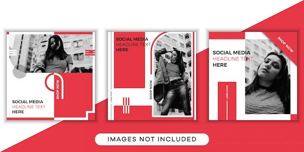 Coleção de modelos de postagem em mídia social